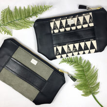 Mia Clutch - Green Faux Suede