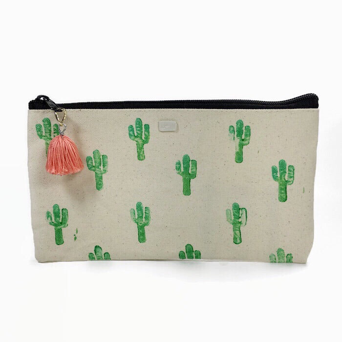 Cactus all over print pouch