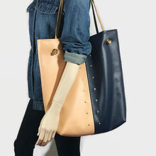 Kate - The Everything Tote - Navy With Peach 2 Tone