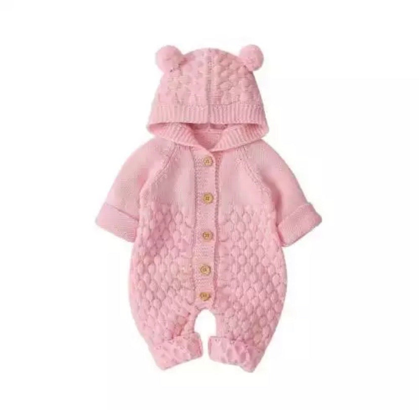 Pink-Winter-Outfits-Bear-Knit-Onesie