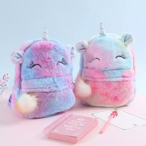 Plush Unicorn Back Pack