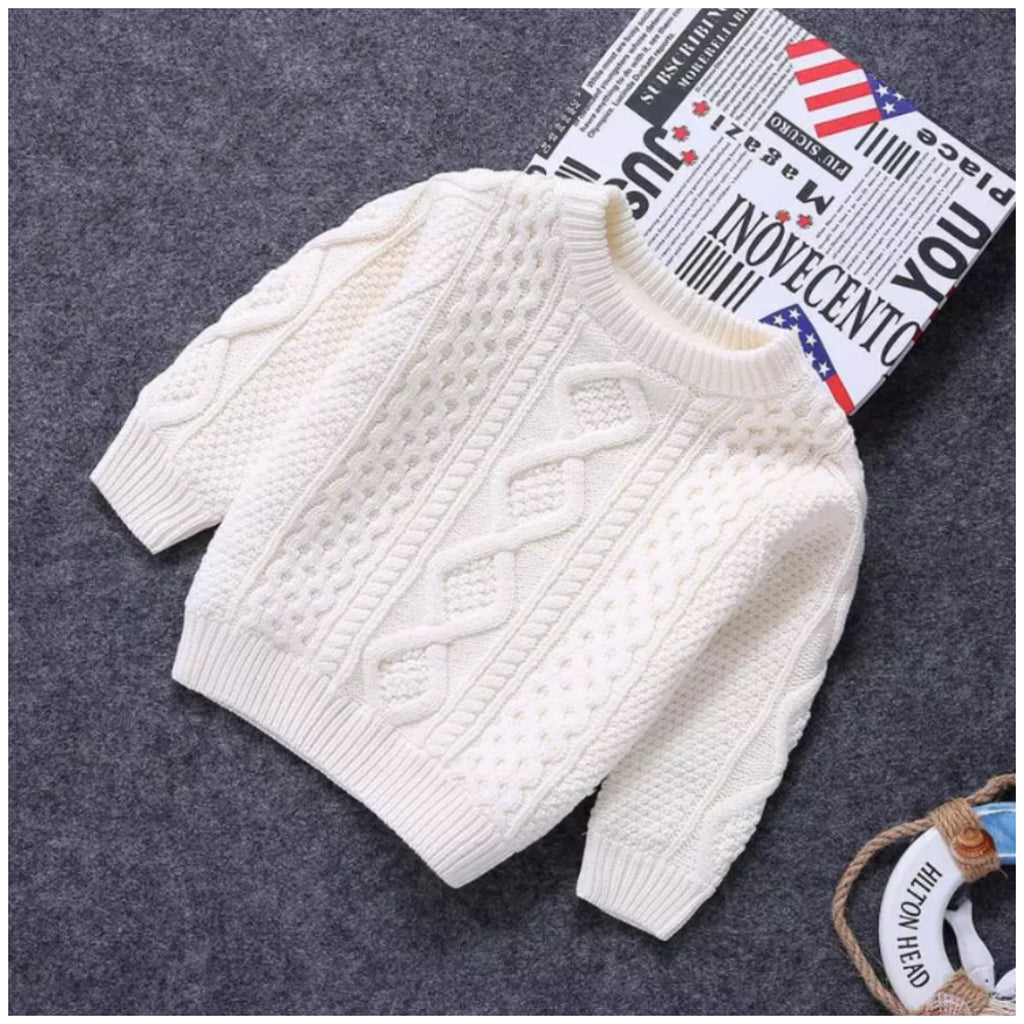 Knit Pullover- White