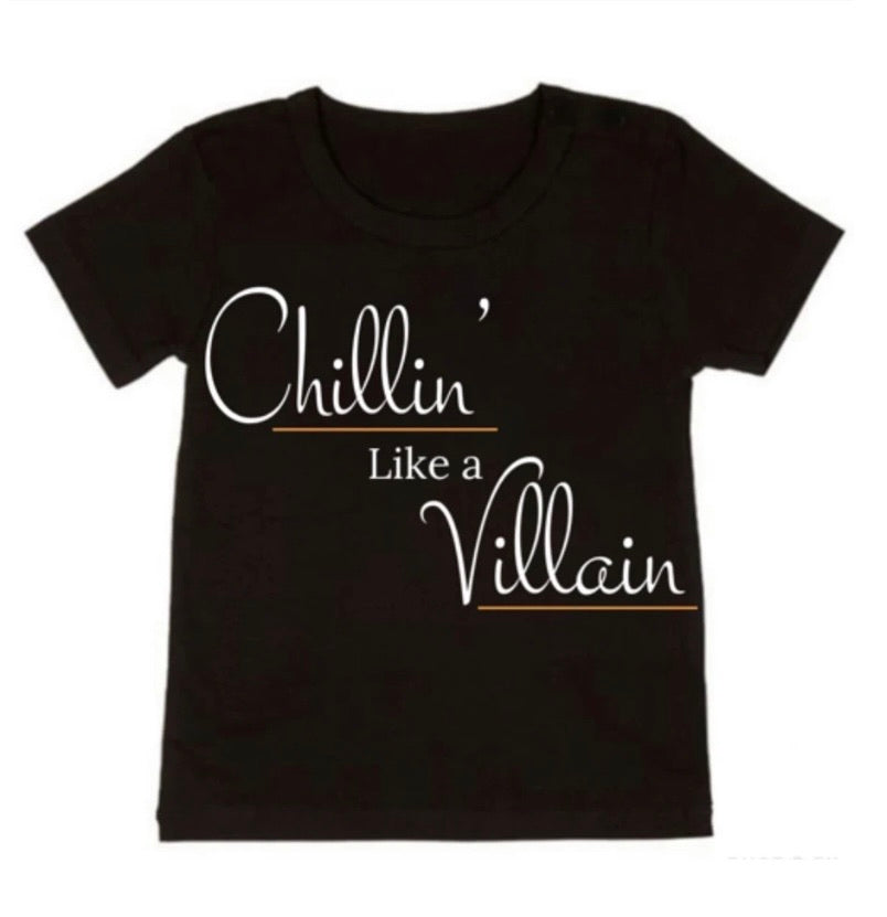Chillin' Like a Villain Tee - NC X The Label