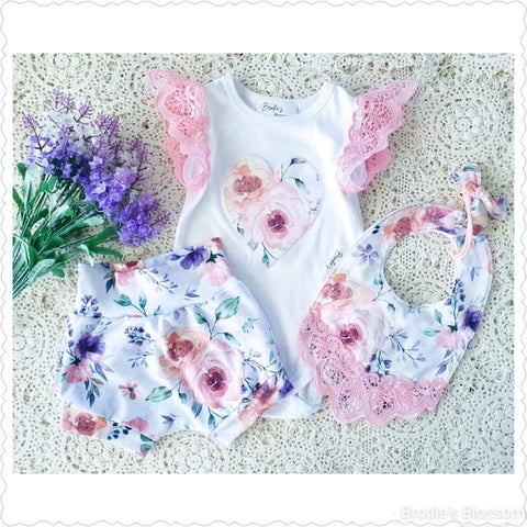 Handmade Floral Shorties Set