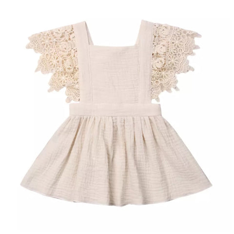 Lacey Linen Angel Dress