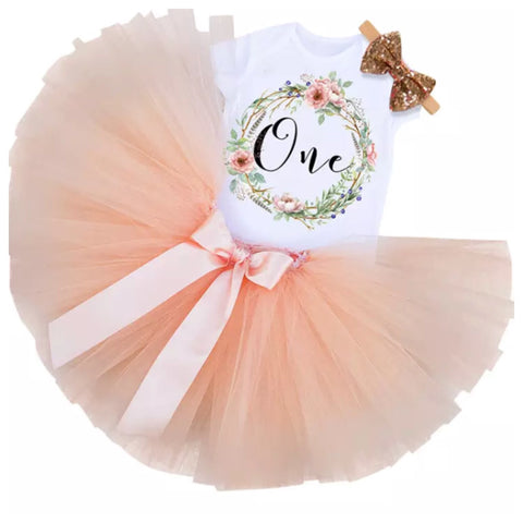 Birthday One Tutu Set