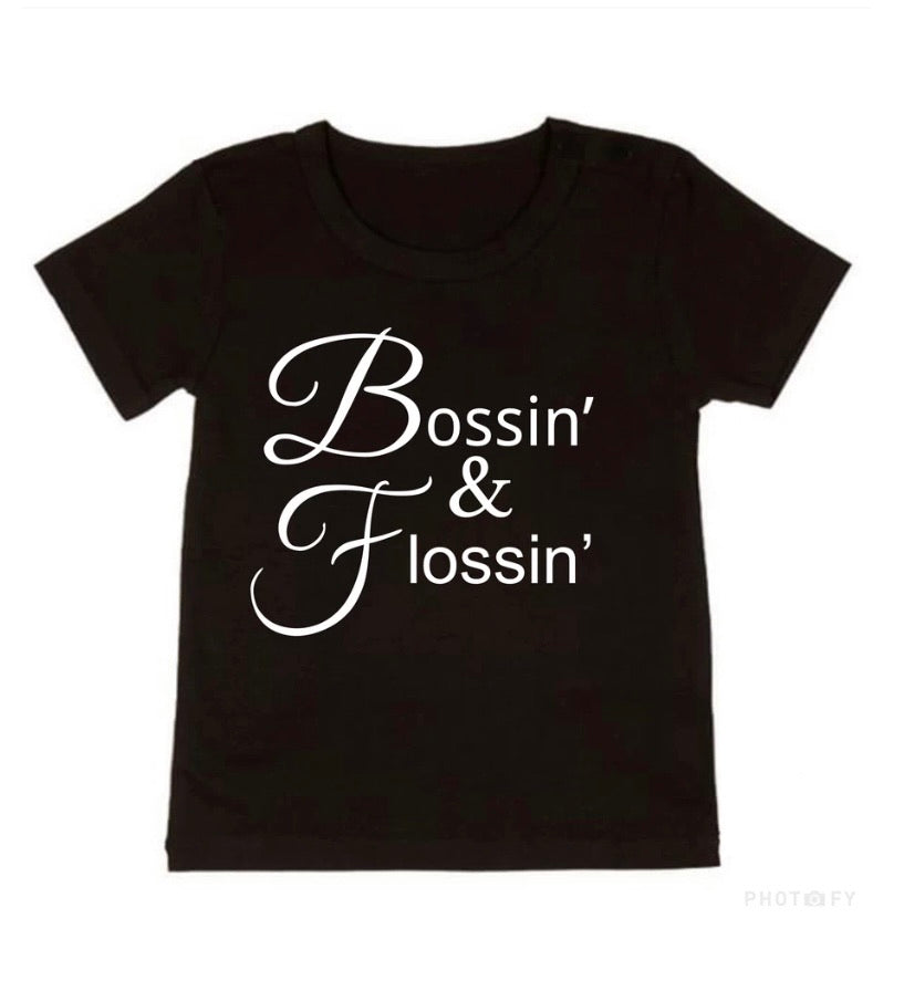 Bossin' & Flossin Tee - NC X The Label