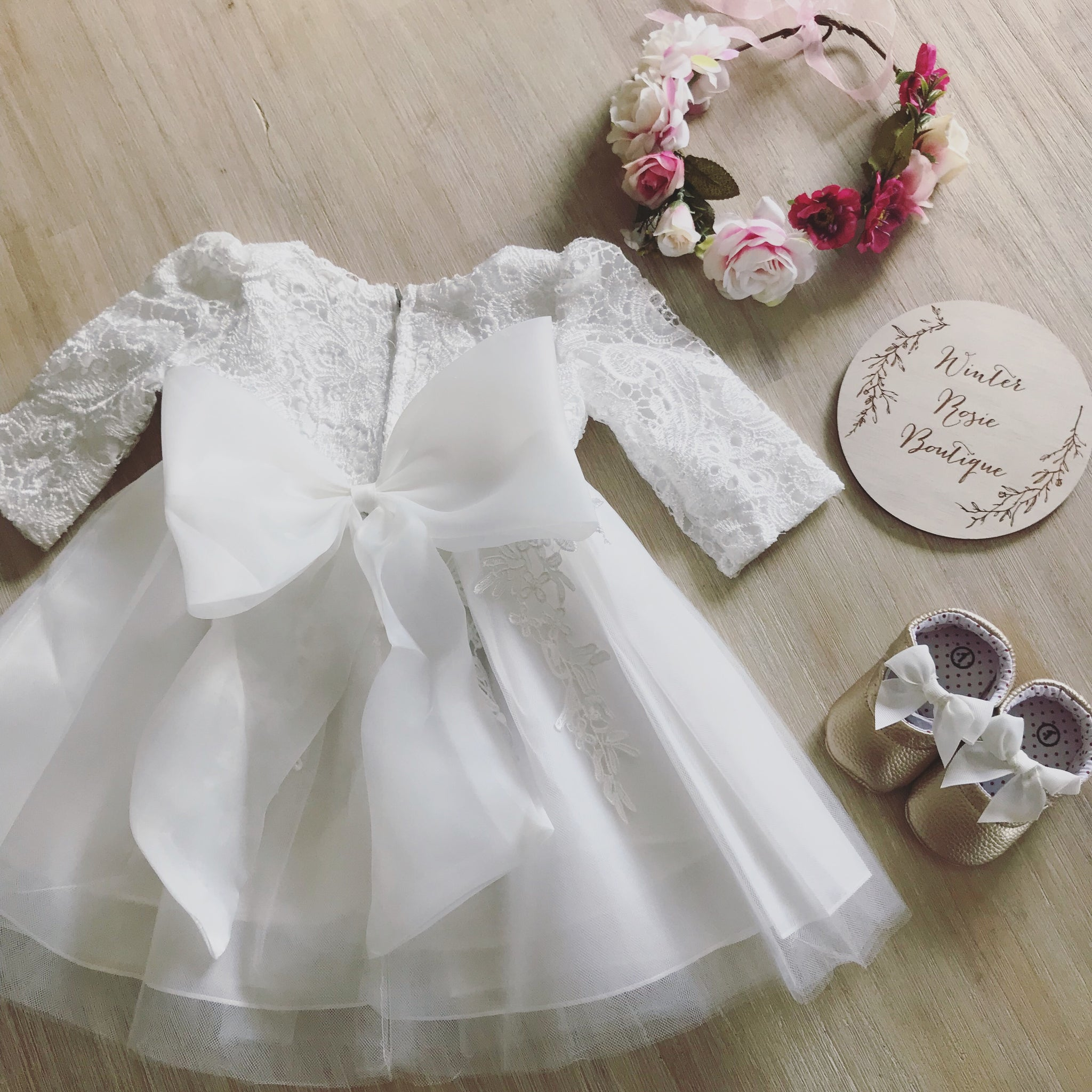 Flower Girl Dress with Sleeves