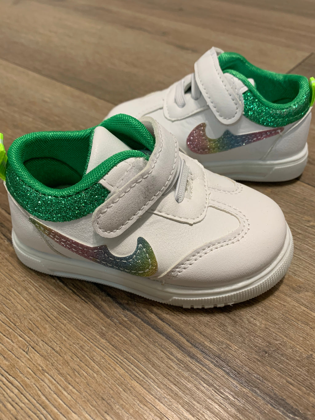 Kids-Shoes-Glitter-Kicks-In-Green