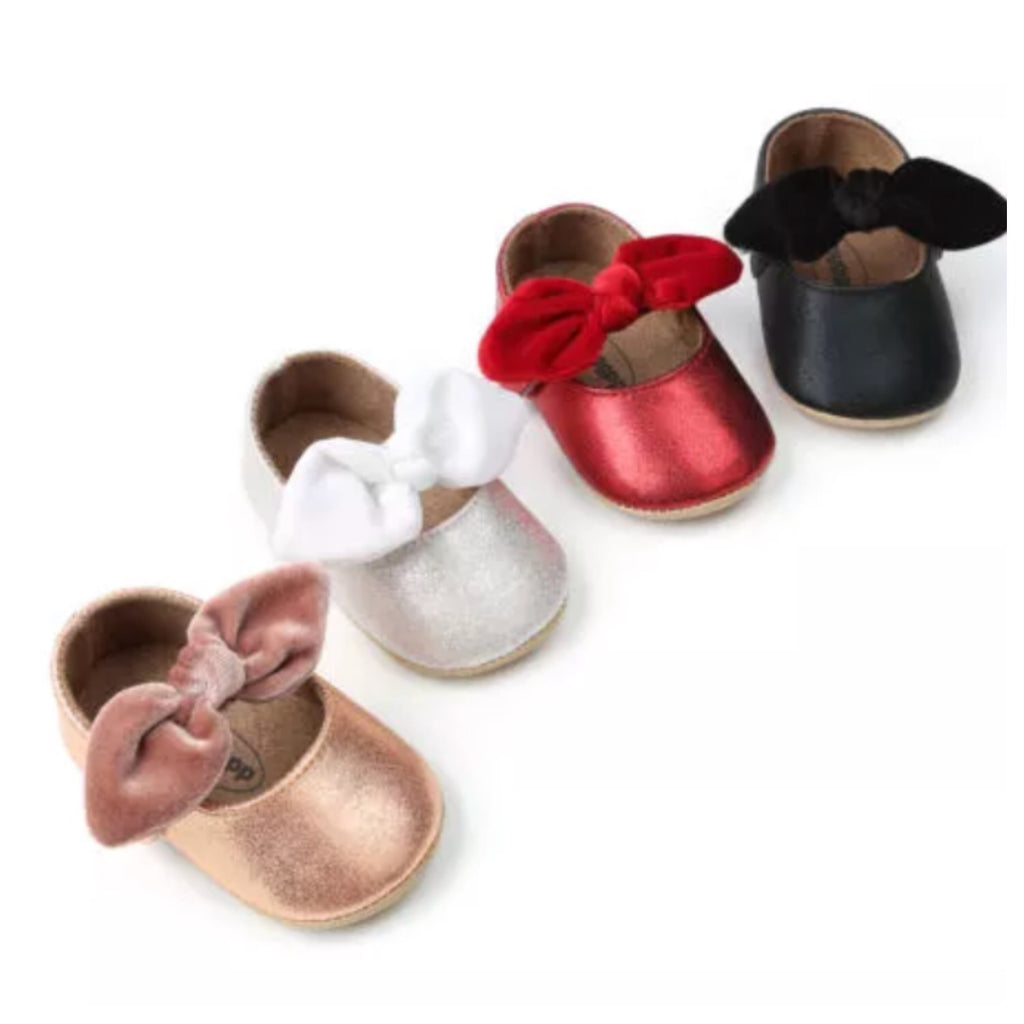 metallic-baby-prewalker-shoes