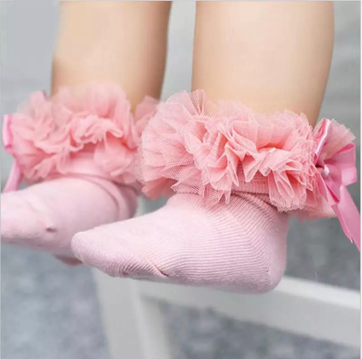 Girls frilly socks