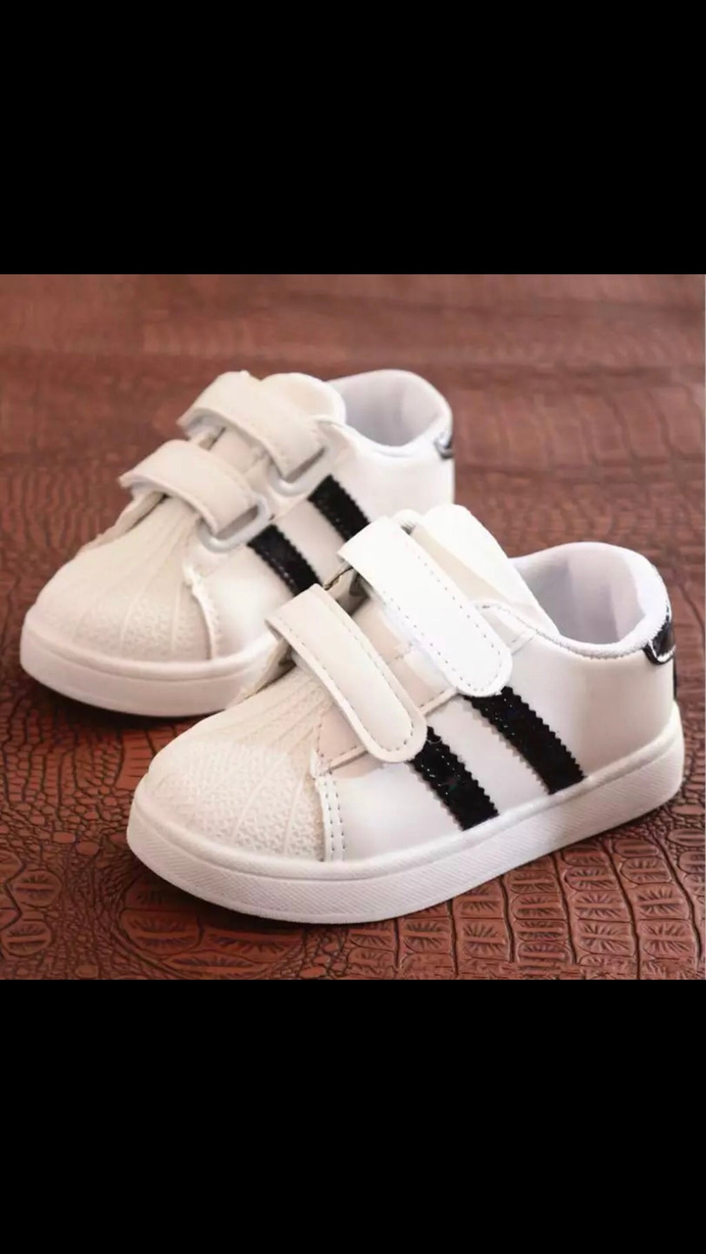 Children's-Shoes-Striped-Hard-Sole-Shoes-Black