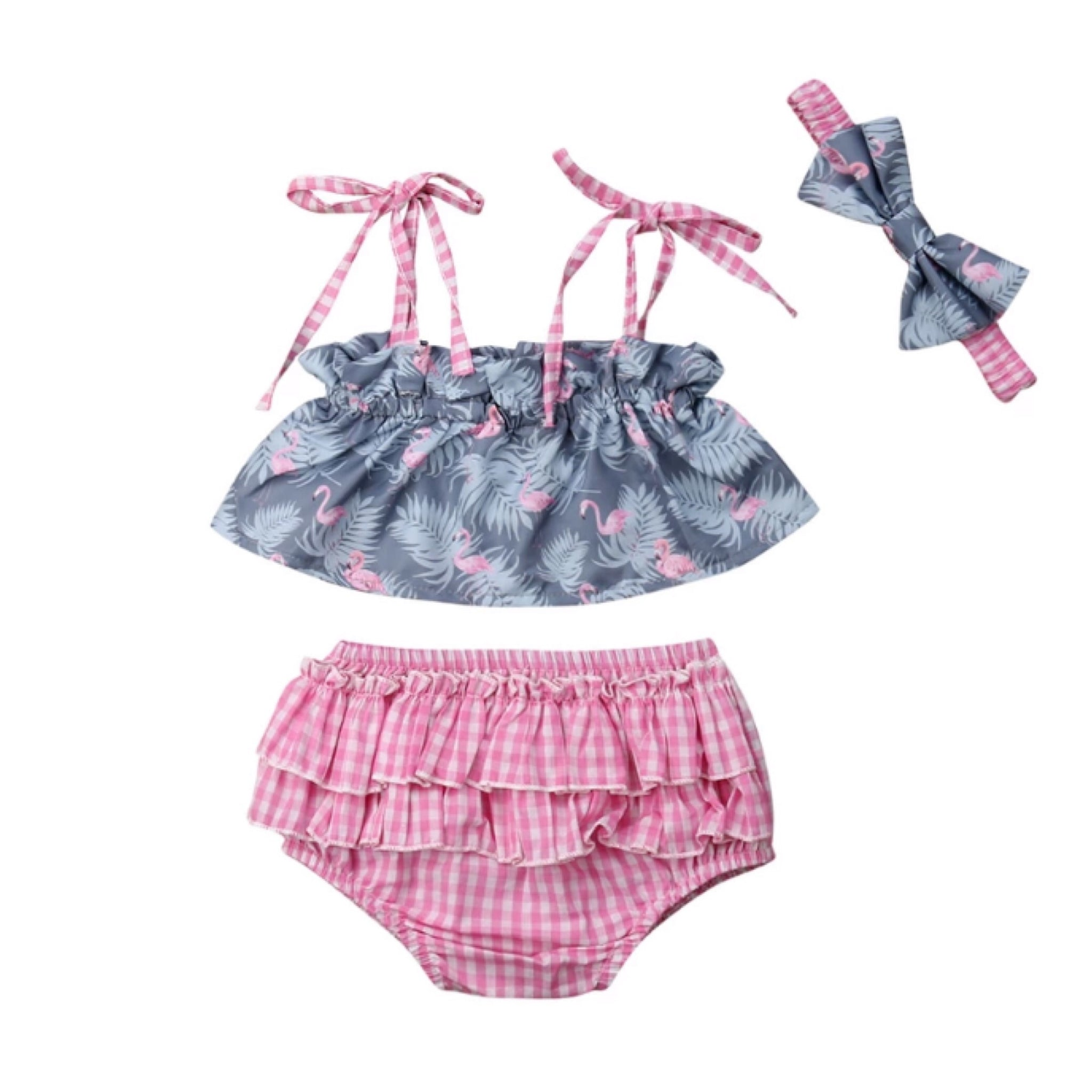 Pink Flamingo 3 Piece Set