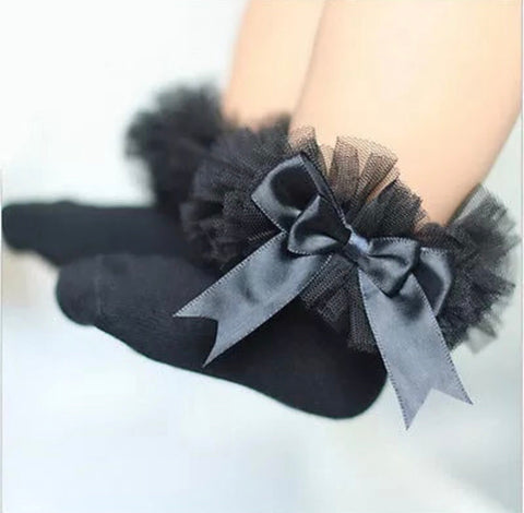 Girls frilly socks-Assorted colours