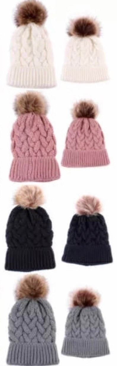 Mummy and Me Beanie Set