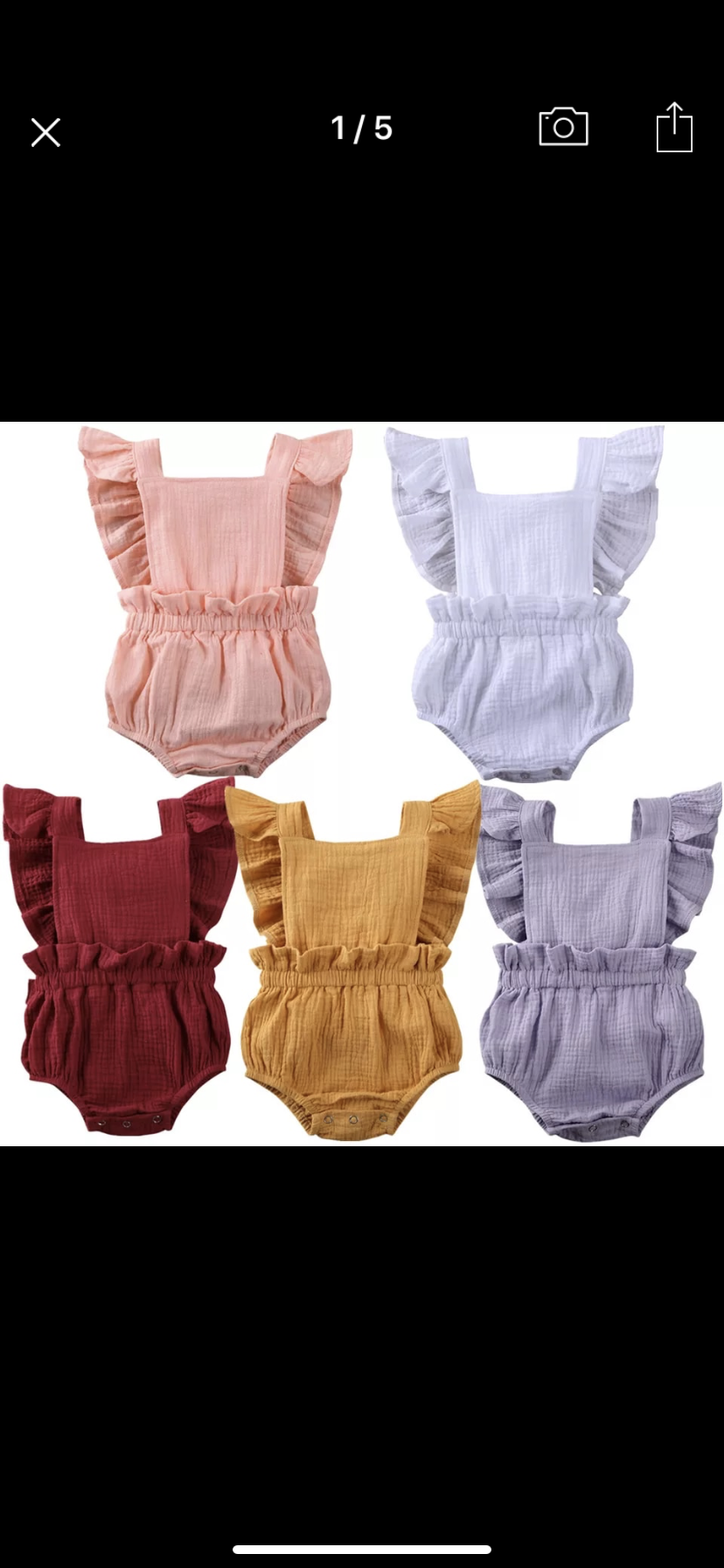 Callala Rompers 5 colours available