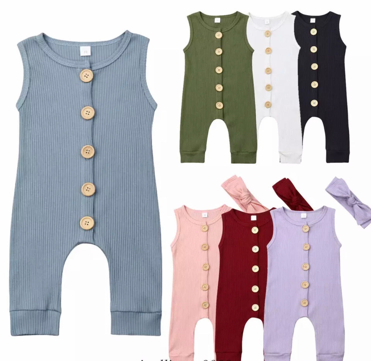 Button Rompers