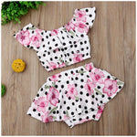 Floral Spotted Crop Set