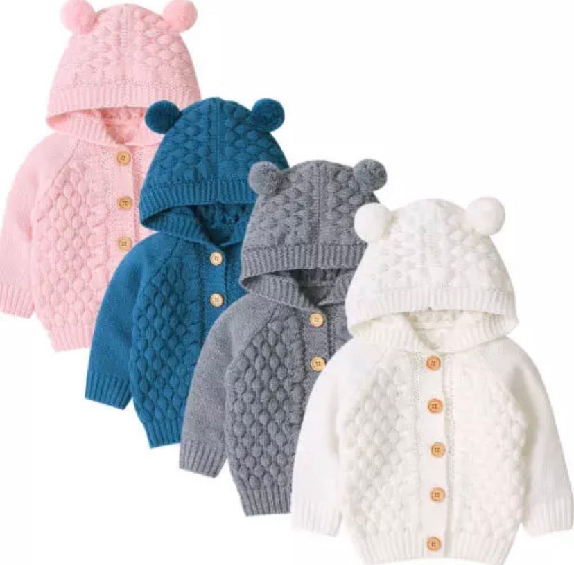 Kid's-Winter-Clothes-Bear-Knitted-Jacket