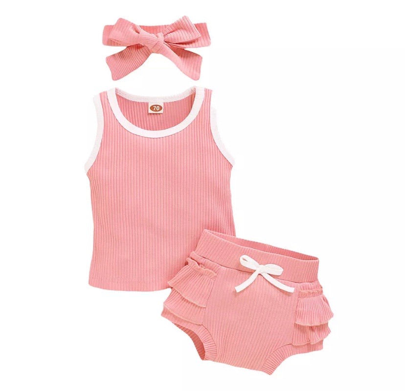 Girls-Clothes-Pink-Ribbed-Basic-Set