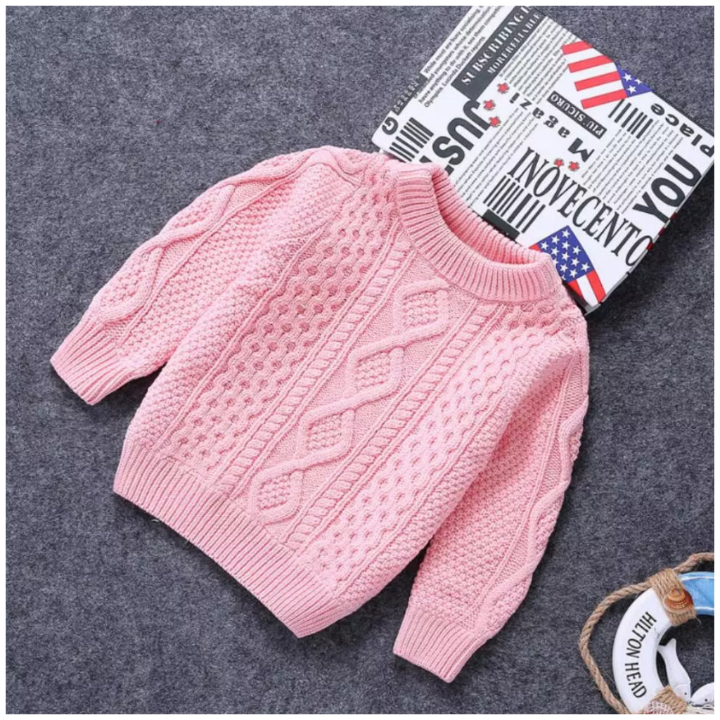 Knit Pullover- Pink