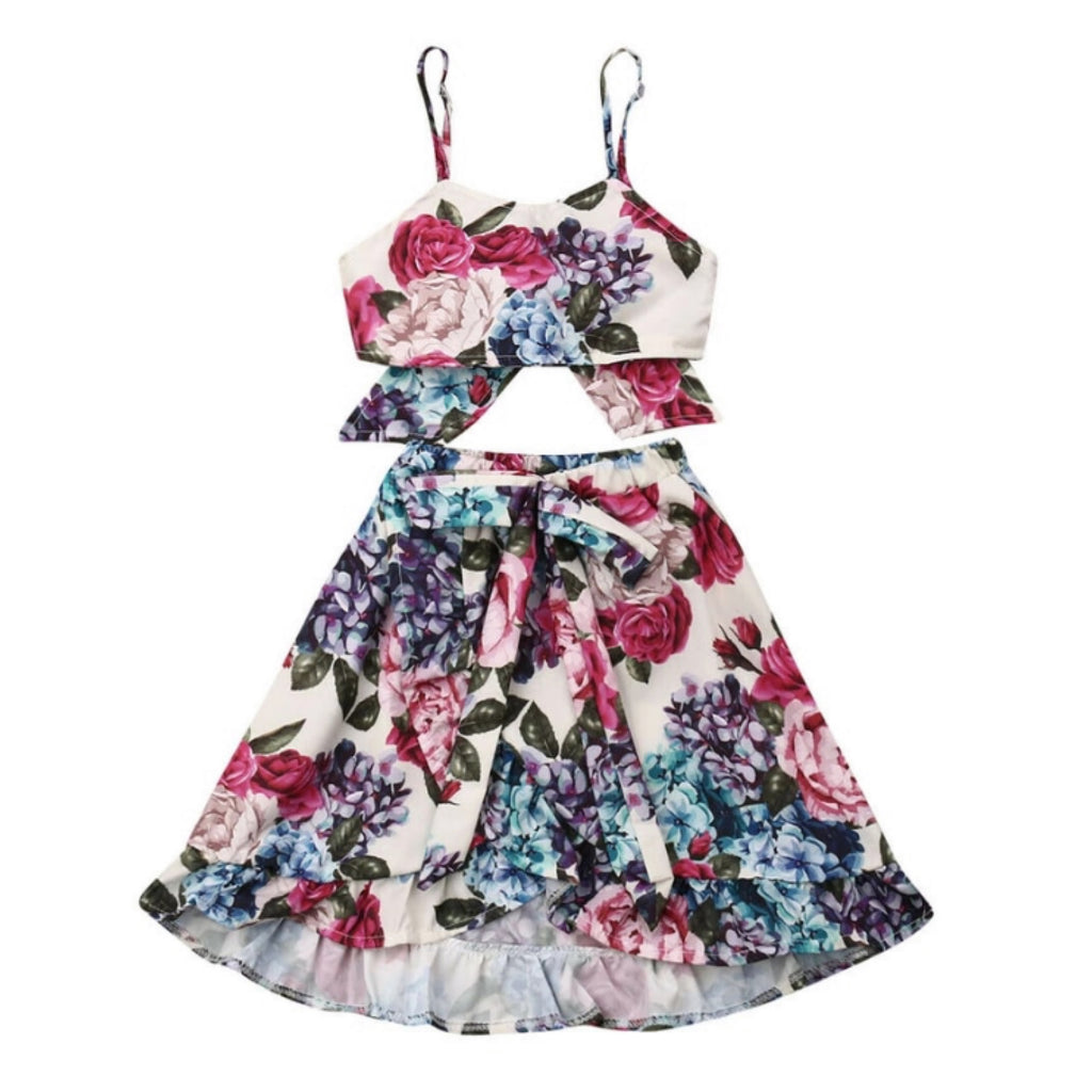 Pretty Floral Skirt Set