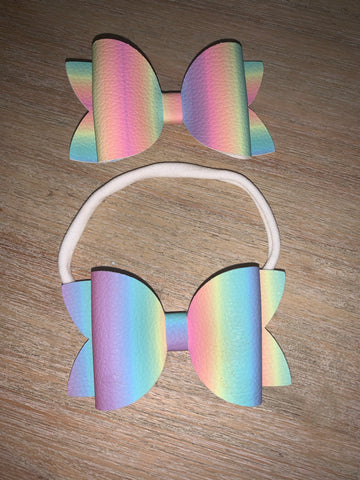 Rainbow Hair Clip or Headband