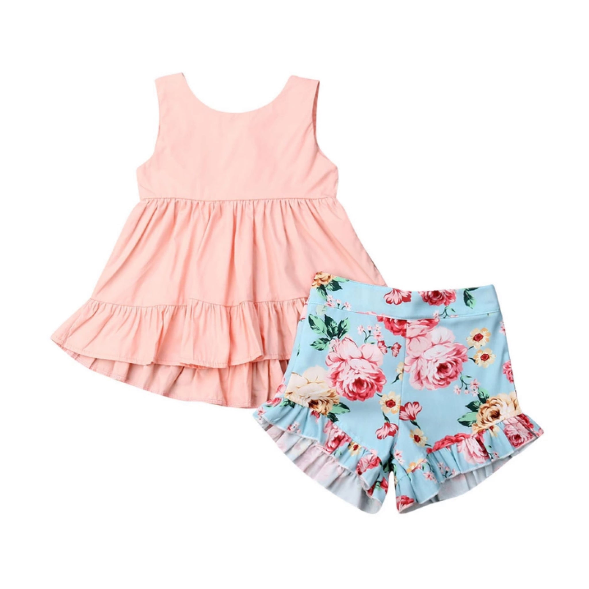 Peach Babe Floral Set