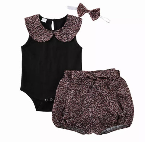 Leopard Playsuit Set