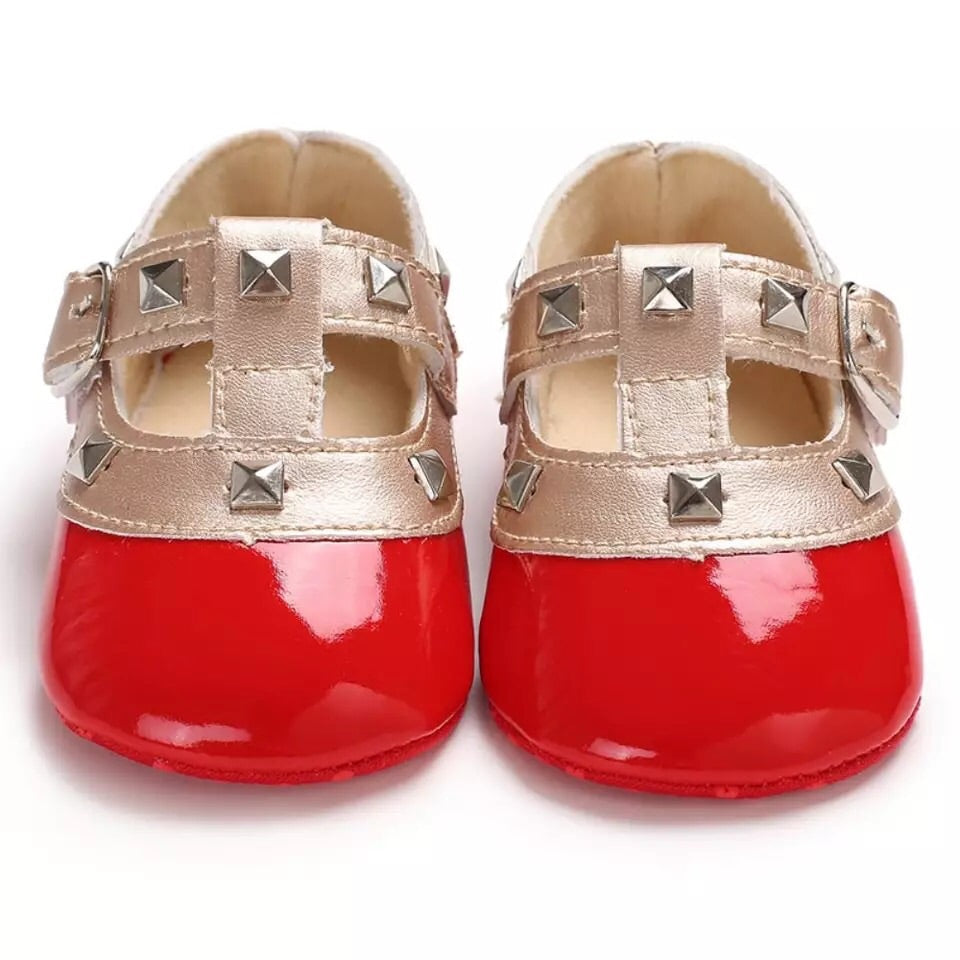 Baby-Pre-walker-Studded-T-bars-Red