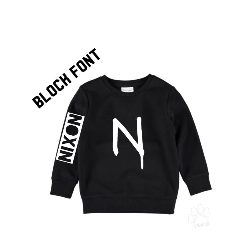 Personalised Initial Crewneck | NC X The Label