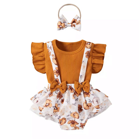 Autumn Suspender Bloomer Set
