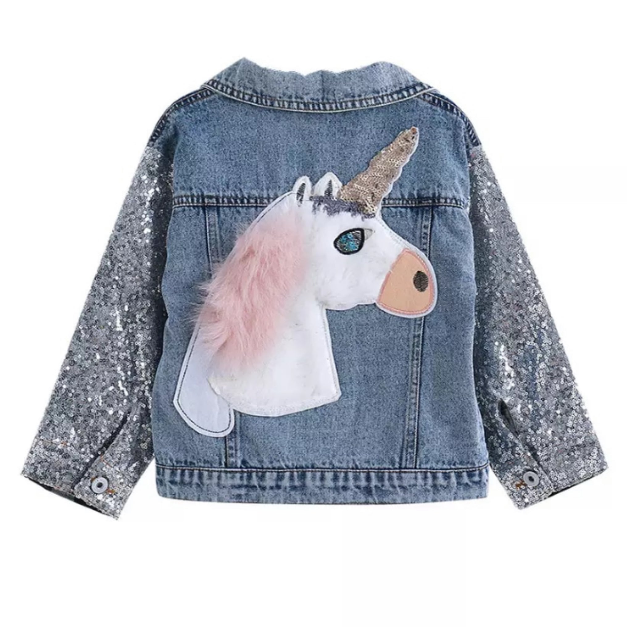 Sparkle Denim Unicorn Jacket
