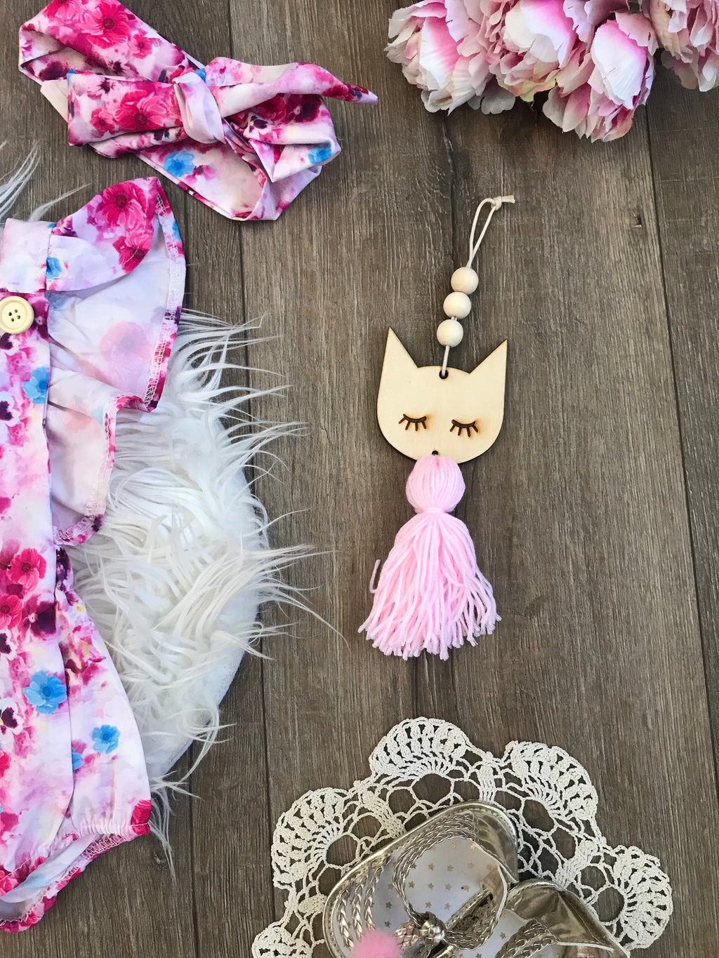 Wooden Tassel Decor