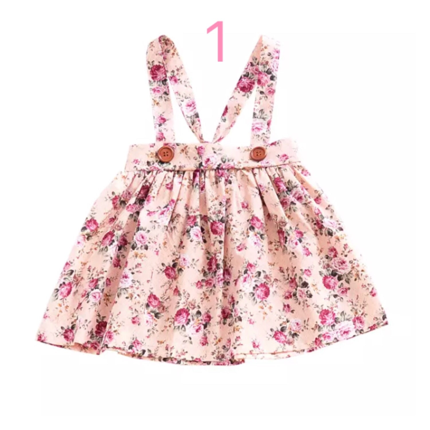 Girl's-Floral-Suspender-Skirts