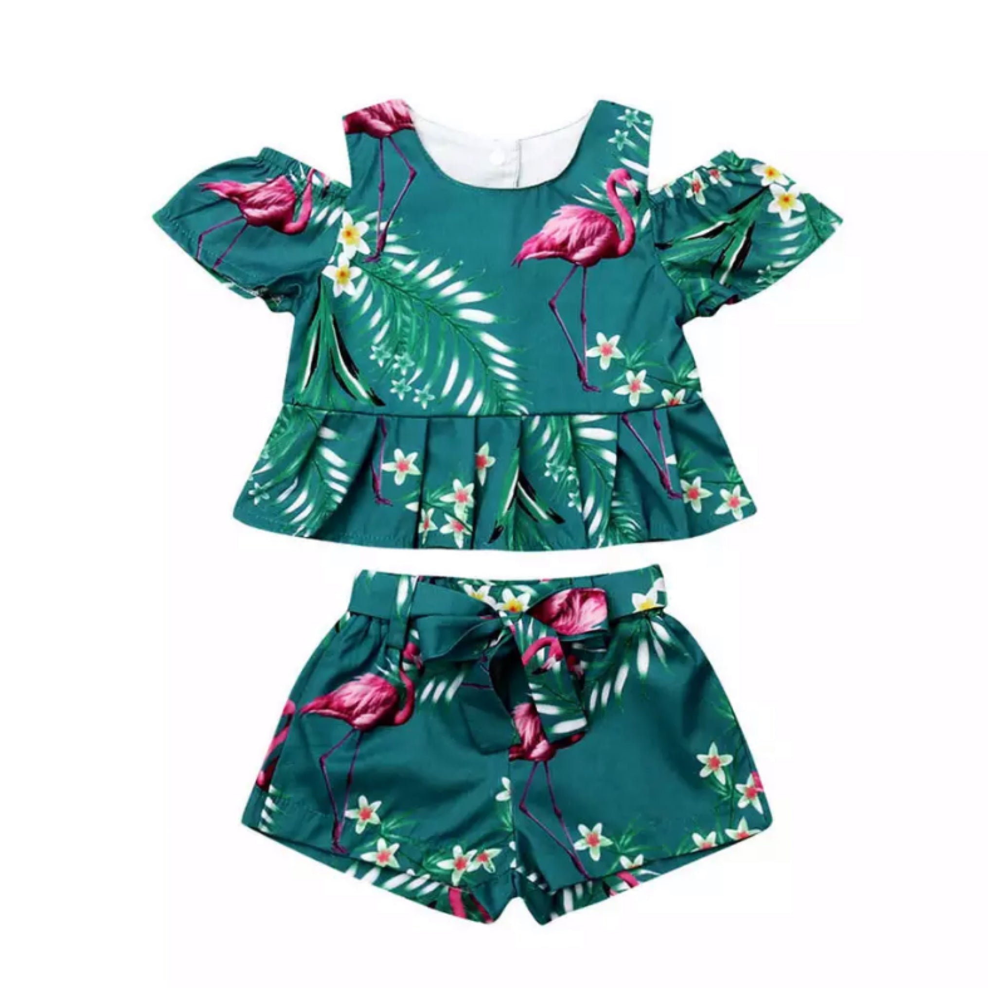 Green Flamingo Set