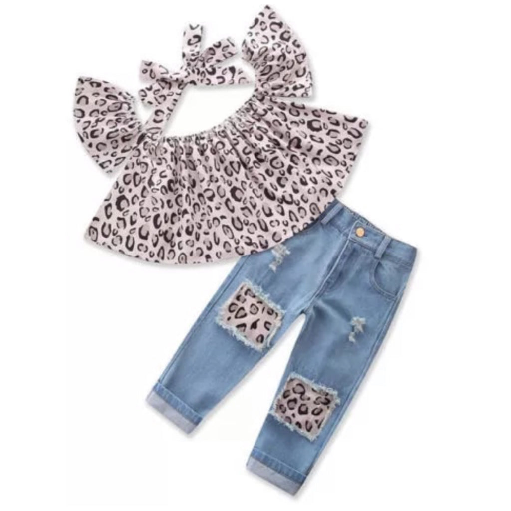 Leopard Love Denim Set