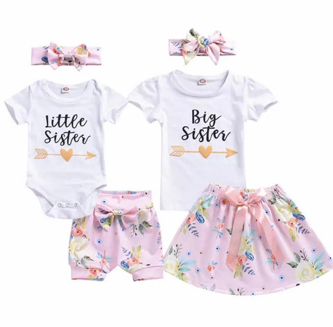 Little Sister/Big Sister Pink Set