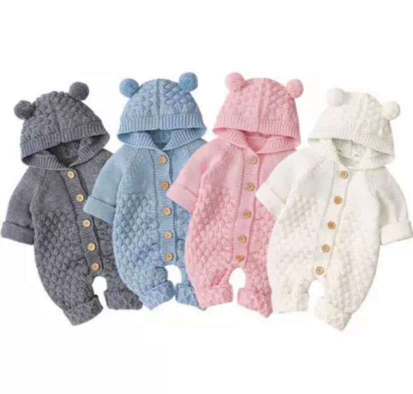 Bear Knit Onesie