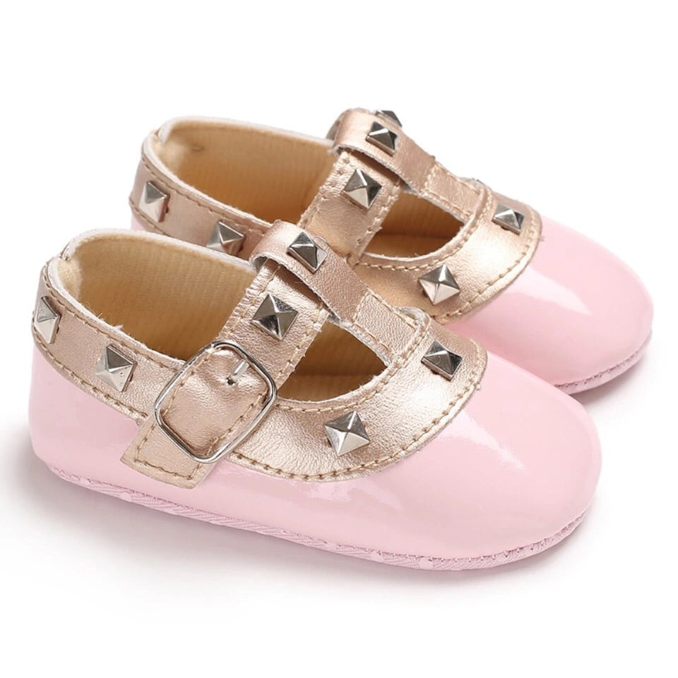 Baby-Pre-walker-Studded-T-bars-Pink