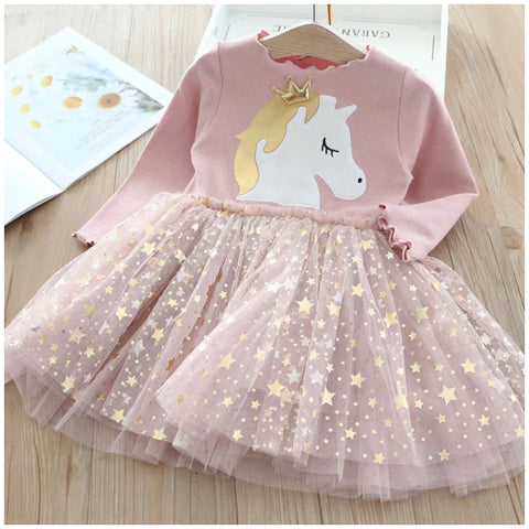 Long Sleeve Unicorn Tutu Dress