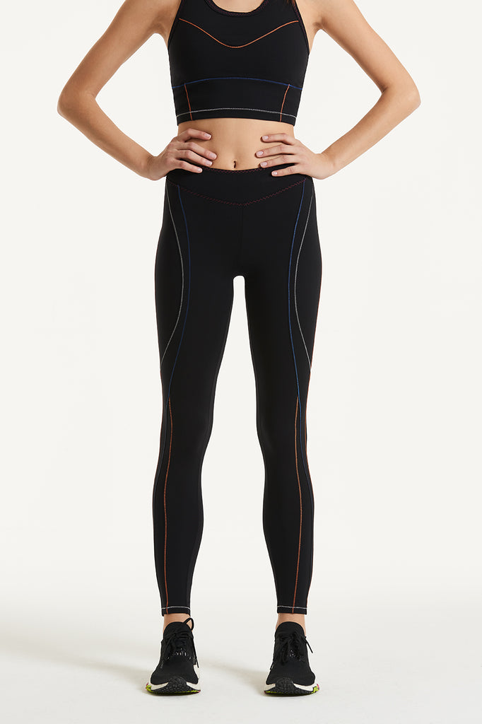 Victoria Multicolor Stitching Leggings - Sapopa