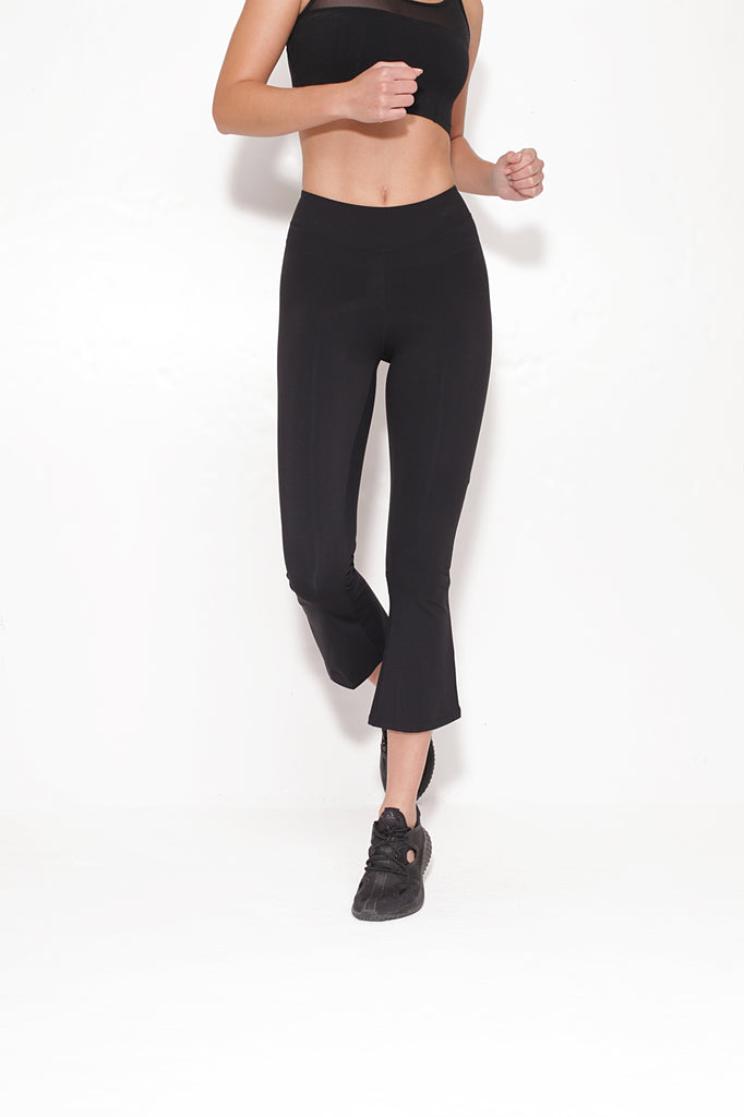 Stella Flare Black Leggings - Sapopa