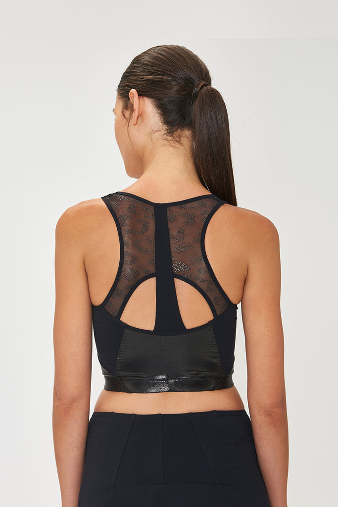 Roberta Black Crop Top - Sapopa