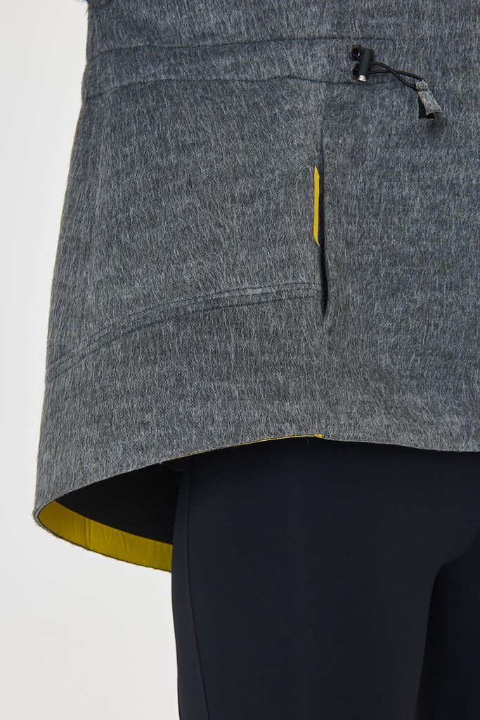 Nuvola Grey Parka Sweater - Sapopa