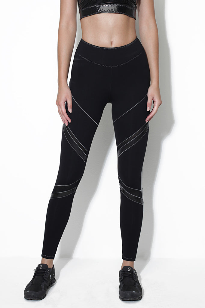 Nuova Black Metallic Sleggings - Sapopa