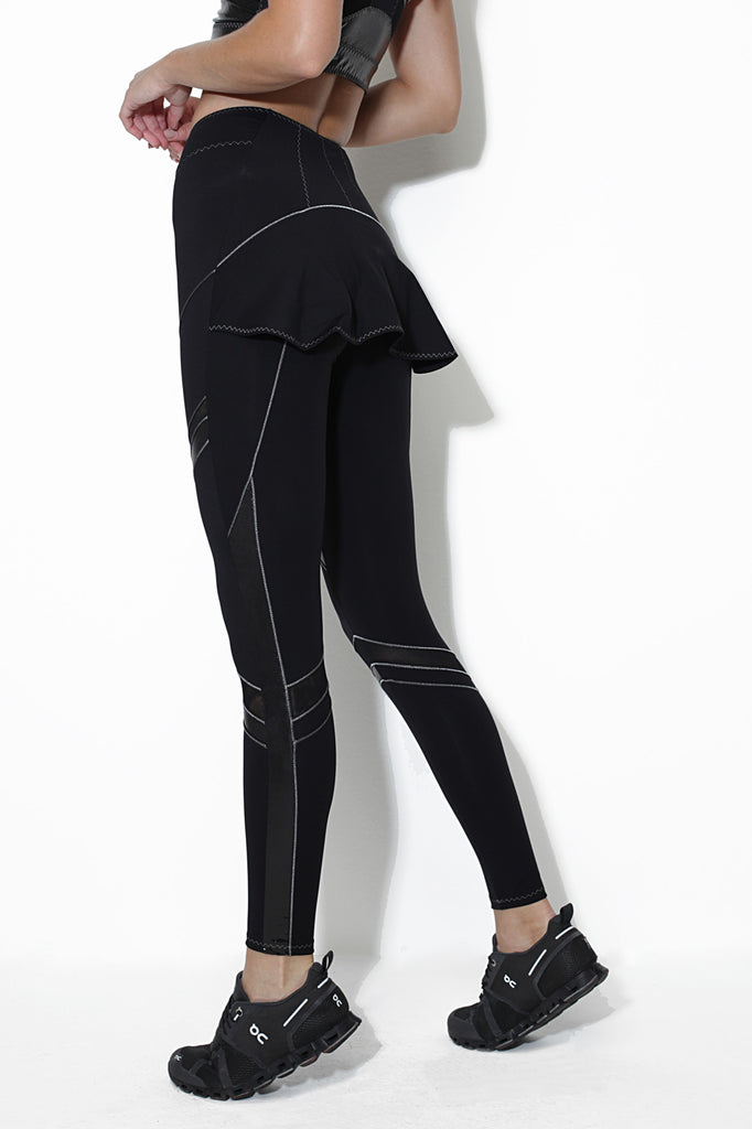 Nuova Black Metallic Sleggings