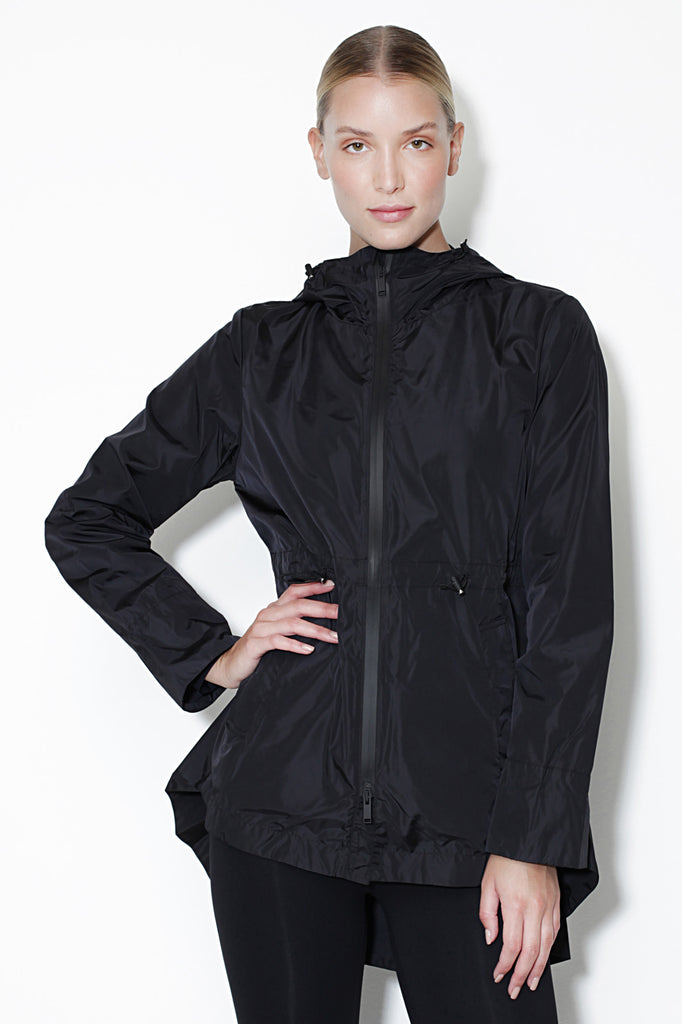 Scudo Black Windbreaker - Sapopa