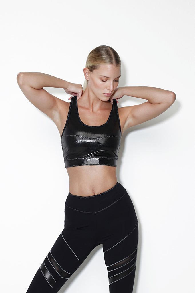 Titanio Eco-Leather Bra