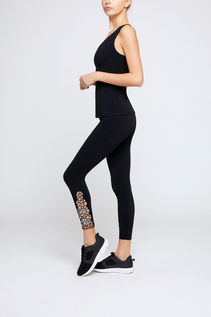 Lilla White/Black Leggings - Sapopa
